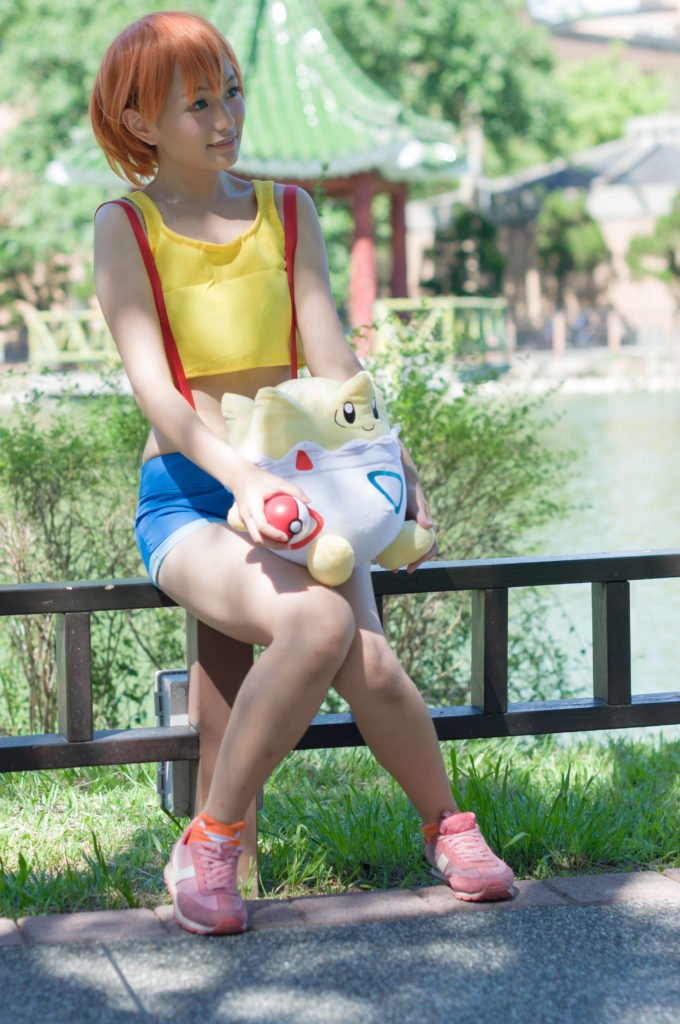 Misty from Pokemon. She's not that important in the game, but prominent in the Anime! Photo taken bykxz Chen [CC BY-SA 2.0 (https://creativecommons.org/licenses/by-sa/2.0)].