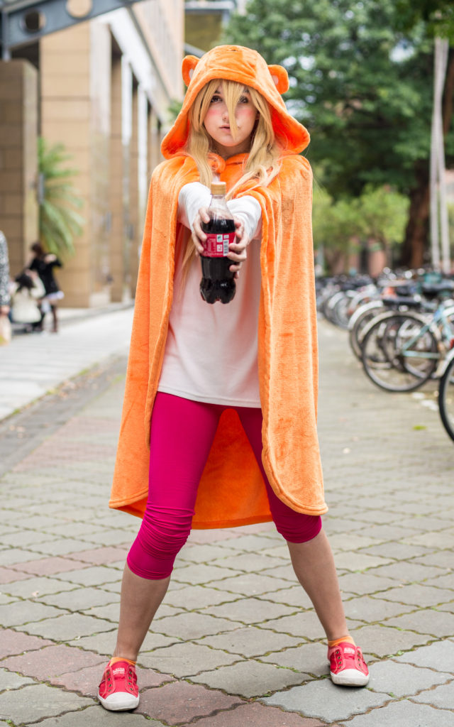 Umaru-Chan cosplay. Her outfit is insanely easy to do; she is one of many easy cosplay idea for girls!