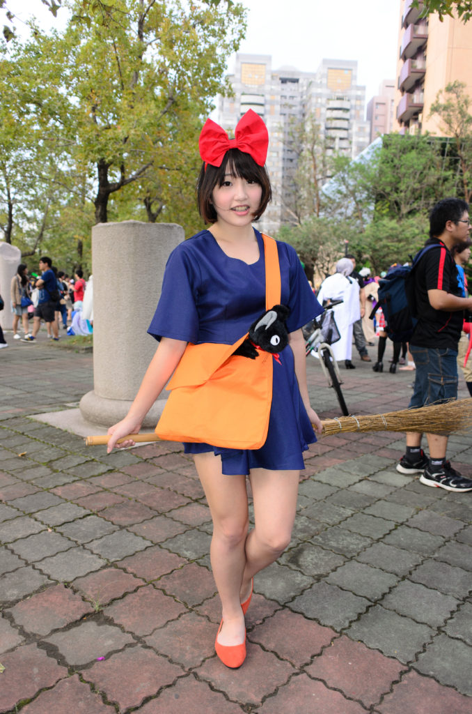 Kiki from Kiki's Delivery Service. An older series but a classic magical girl worth cosplaying!