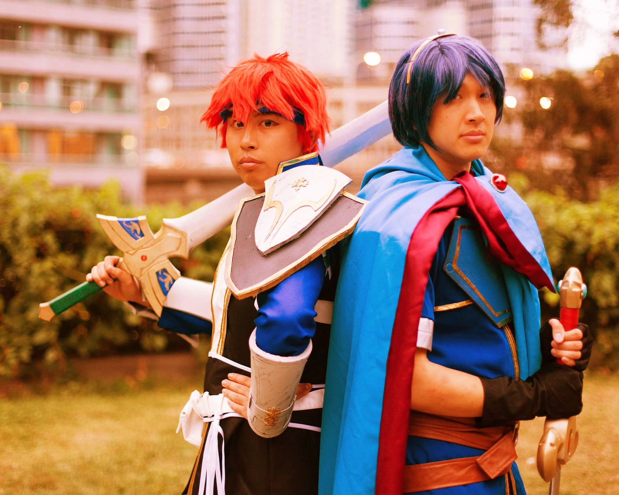 Fire Emblem cosplay photo ruined by a crappy photo filter!