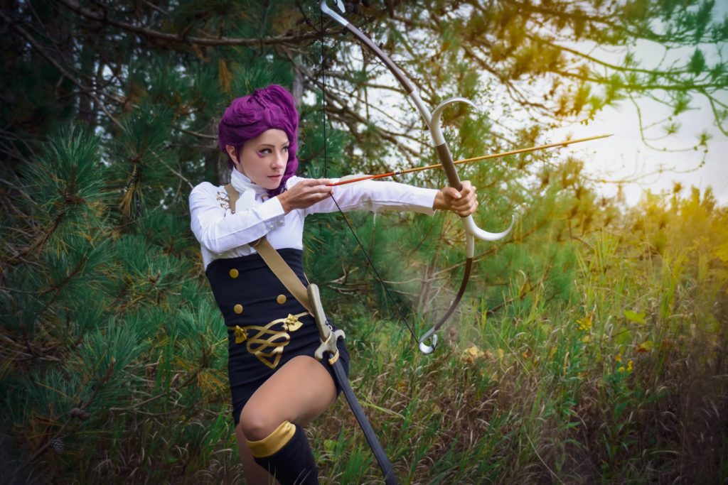 Petra cosplay with bow (Aelynn) Fire Emblem Three Houses Cosplay