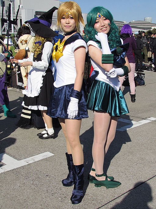 Haruka and Michiru (cosplay lesbian)