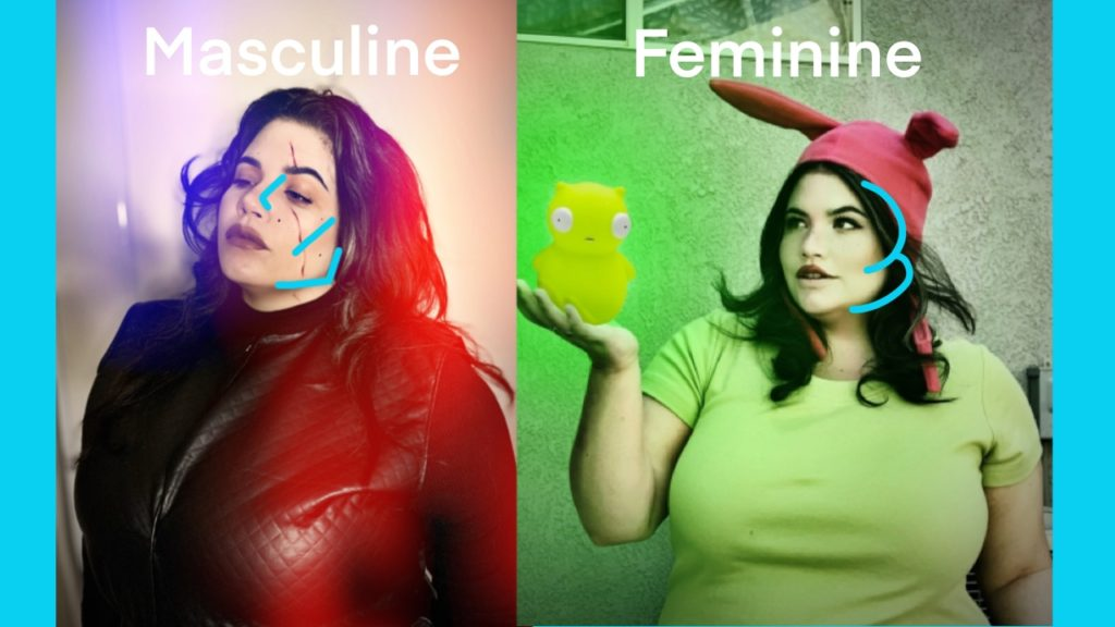 masculine/feminine makeup
