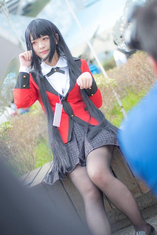 Yumeko (black hair cosplay)